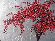 Red Black and Silver Tree