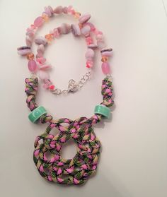 Infinity rock necklace