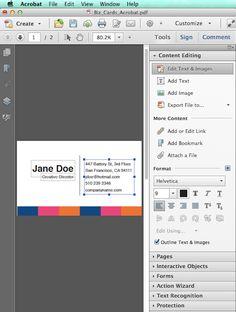 When client needs text editable files: Adobe Acrobat