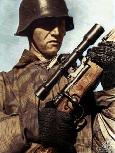 German Sniper with K98 Mauser.