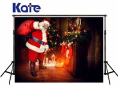 Christmas Photography Backgrounds Santa Claus ChristmasTree Fone Photographie Indoor Warmth Backdrops For Children Photo Studio