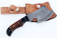 Overall Length INCH Handle Material Rose wood Blade Material Damascus Steel and n Customization Accepted Handle Material Leather Case Custom hand made belt loop leather case Damascus Steel This knife