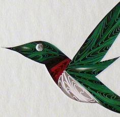 Quilled Hummingbird Little One Wall Art