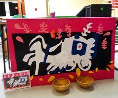 """Animation dans le cadre de la journée """"Portes ouvertes"""" à la maternelle Quatre Vents de Herserange. Composition d'une oeuvre de Matisse par les enfants. http://fondationsolangebertrand.org/ https://www.facebook.com/fondation.solangebertrand"""
