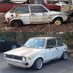Vw Mk1 Rabbit, Volkswagen Golf Mk1, Golf Mk2, Tuner Cars, Automotive Design, Cool Cars, Mad Max, Cannon, Classic Cars