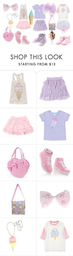 """Ice cream friends"" by sweetpasteldream ❤ liked on Polyvore featuring Timeless, Plastic Bat, Chicnova Fashion and Levi's"