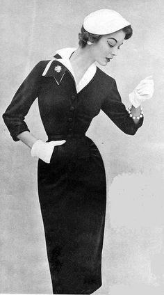 50's Fashion Icon Jean Patchett. My mom dressed like this every Sunday , during the 50's.