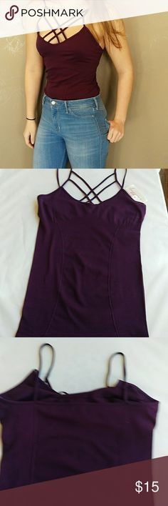 Kathy spaghetti strap tank top NTW Super cute slim fitted tank top with built in bra kathy Tops Tank Tops