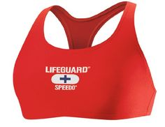 Speedo Women's Lifeguard Technoback Top – Red – L « zBikinis.com