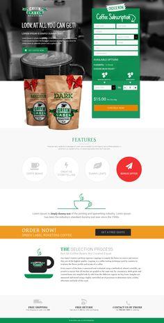 Website Template of Green Label Roasters