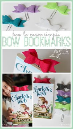 how to make simple bow bookmarks