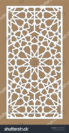 Find Laser Cutting Arabesque Vector Panel Template stock images in HD and millions of other royalty-free stock photos, illustrations and vectors in the Shutterstock collection. Islamic Art Pattern, Arabic Pattern, Geometry Pattern, Stencil Patterns, Stencil Designs, Pattern Art, Cnc Cutting Design, Laser Cutting, Motif Arabesque