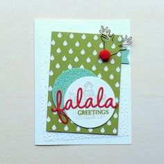 Like how Cindy used the Reindeer Paper Clip with the Red Pompom Trim on her Sparkly Seasons card - all supplies from Stampin' Up! Fall Cards, Winter Cards, Xmas Cards, Homemade Christmas Cards, Stampin Up Christmas, Christmas 2015, Christmas Catalogs, Christmas Projects, Christmas Ideas