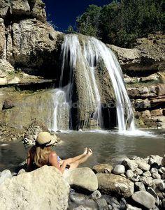 Diamond Fork Hot Springs in Utah, near Spanish Fork. 2.5 mile hike in. Bring towels