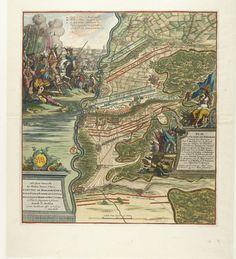 Slag bij Höchstädt, 1704 and Plan de la Glorieuse Bataille Donnée le 13. Aoust Prés de Hochstett sur le Danube ... | Jan van Vianen | 1704 | Rijksmuseum | Public Domain Marked