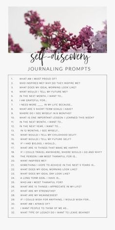 30 Day Journal Prompts For Self-Discovery To Ignite The Best Version Of Yourselfa 30 day daily self-discovery journal writing prompts for adults, for teens, for therapy. These journal prompts will help find happiness, self-love, and Vie Motivation, Health Motivation, Journal Writing Prompts, Journal Prompts For Teens, Bullet Journal Prompts, August Journal Prompts, Bible Bullet Journaling, Journal Topics, Art Prompts