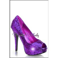 Womens Sparkly Purple Glitter Low & High Heels Stiletto Shoes Pumps... ($88) ❤ liked on Polyvore featuring shoes, pumps, black, women's shoes, black tennis shoes, black pumps, peep toe wedge pumps, black peep toe pumps and black high heel pumps