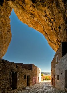 """""""Cave Mangiapane... includes within it a small hamlet of houses, which was inhabited until the Second World War""""...  Cave Mangiapane, Custonoci, Trapani, Sicily."""
