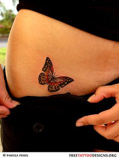60 Awesome free butterfly tattoo designs + the meaning of butterfly tattoos. Designs include: feminine, tribal and lower back butterfly tattoos. Monarch Butterfly Tattoo, Butterfly Tattoo On Shoulder, Butterfly Tattoos For Women, Butterfly Tattoo Designs, Butterfly Species, 4 Tattoo, Bone Tattoos, Cover Tattoo, Tatoos