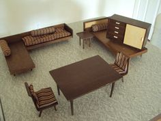 Retro-Vintage doll furniture for your mid-century doll house!