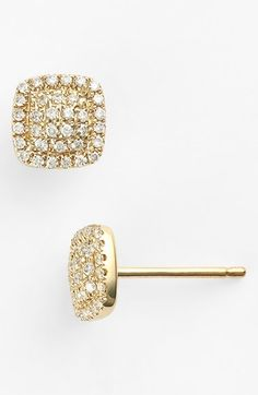 Dana Rebecca Designs Diamond Square Stud Earrings Nordstrom Pierced