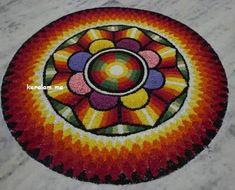 Rangoli Designs Flower, Flower Rangoli, Kolam Designs, Mehndi Designs, Onam Pookalam Design, Onam Festival, Rangoli Colours, Outline Images, Mehandi Designs