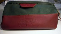 Vintage 1970s J.W. Hulme Co Dopp Kit Travel Bag Expandable Green Canvas Leather in Backpacks, Bags & Briefcases | eBay