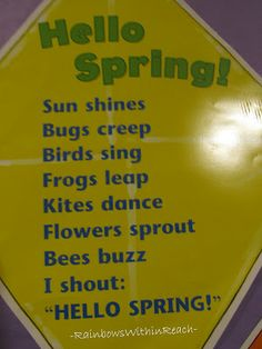 Spring Art & Crafts, Bulletin Boards and Poems Classroom Art Projects, Art Classroom, Classroom Activities, Class Activities, Classroom Ideas, Spring Arts And Crafts, Spring Art Projects, Kid Projects, Preschool Poems