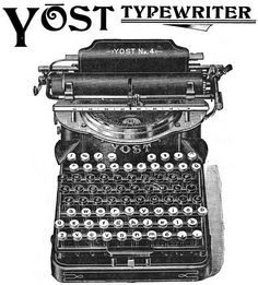 Late Victorian-era ad for Yost typewriter -- perfect for office decoration