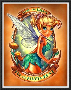 If I ever decided to get a Tinkerbell tattoo it would be something along these lines. Disney Princess Pin Up Girl Tattoo - Tinkerbell! Tattoo Girls, Pin Up Girl Tattoo, Pin Up Tattoos, Girl Tattoos, Tatoos, Tattoo Women, Female Tattoos, Art Disney, Disney Kunst