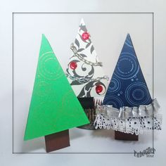 Bucket Full of Cards: Kelleigh's Christmas Tree, Oh Christmas Tree! Made with electronic cutting file from Kelleigh Ratzlaff. Unity Stamps