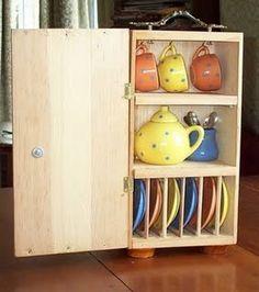 teaching kids to put away dishes!