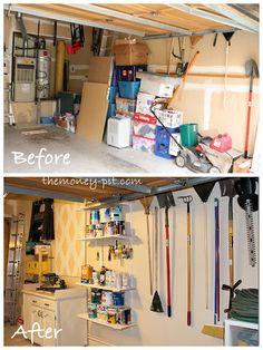 Organizing the garage.