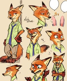 Doodle(Nick Wilde) by Yudukichi.deviantart.com on @DeviantArt #disney #nickwilde #zootopia_disney