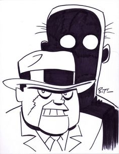 Scarface and The Ventriloquist Sketch by Bruce Timm