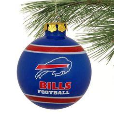 Buffalo Bills Striped Glass Ball Ornament! Check out all of the Bills Holiday decor here: http://pin.fanatics.com/NFL_Buffalo_Bills_Accessories_Holiday_Items/source/pin-bills-holiday-decor-sclmp