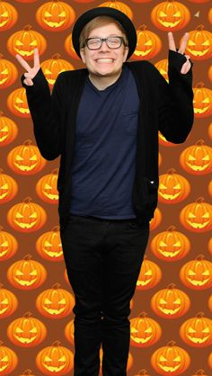 patrick stump halloween lockscreen made by maddy4015