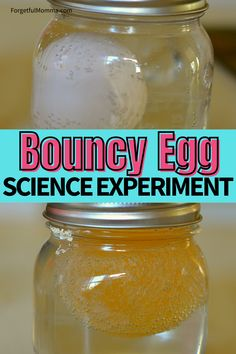 Bouncy Egg Science Experiment. #kidsscience #handsonlearning #scienceexperiment #homeschool