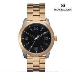 a53a79190296 Reloj hombre analogico negro y dorado wr 5 atm. Relojes DoradosRelojes  HombreNegroComprarRolex