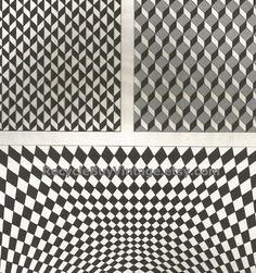 vintage 1970's optic illusion pattern art print book plate black & white pop art design retro home decor mod geometric picture wall 41 42 by RecycleBuyVintage on Etsy