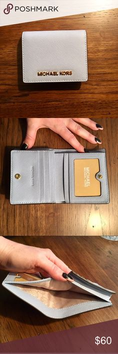 Michael Kors Periwinkle Wallet Perfect condition, NWOT KORS Michael Kors Bags Wallets