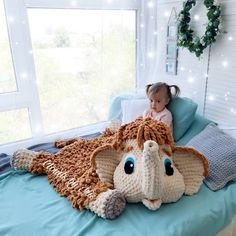 "Baby mat ""Mammoth"", baby play mat – Best Baby And Baby Toys Crochet Mat, Crochet Toys, Baby Play, Baby Toys, Mat Best, Kids Photo Props, Animal Knitting Patterns, Free Machine Embroidery Designs, Baby Shower Gifts"
