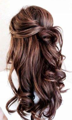 Half-Up + Voluminous Curls