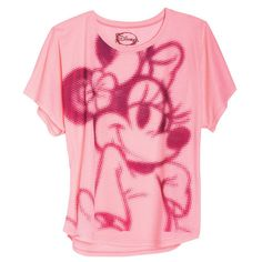 Neon Big Face Minnie Tee ($15) ❤ liked on Polyvore featuring tops, t-shirts, shirts, blusas, graphic tees, graphic design shirts, graphic shirts, neon tees, neon graphic tees and graphic tops