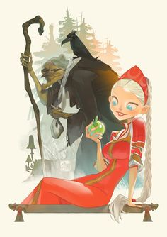 The Scarecrow of Oz. The evil witch Blinkie freezes the heart of Princess Gloria. By Otto Schmidt.