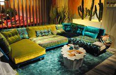 knallige Farben liegen voll im Trend  #green #blue #bretz #bretzpolstermoebel #couch #MoebelLETZ
