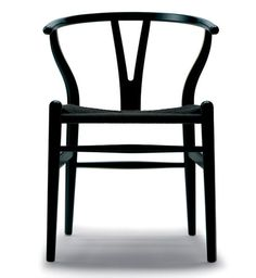 dream chairs. Wegner Wishbone Chair - Black Seat