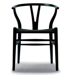 dream chairs. Wegner Wishbone Chair - Black Seat