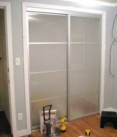 these amazing sliding closet door makeovers would be great with the mirrored closet doors i have