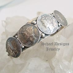 Mercury Dime & Sterling Silver Cuff Bracelet old coin jewelry | Native American, Southwestern & turquoise jewelry | New Mexico